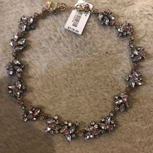 J.CREW CRYSTAL FLOWERS NECKLACE